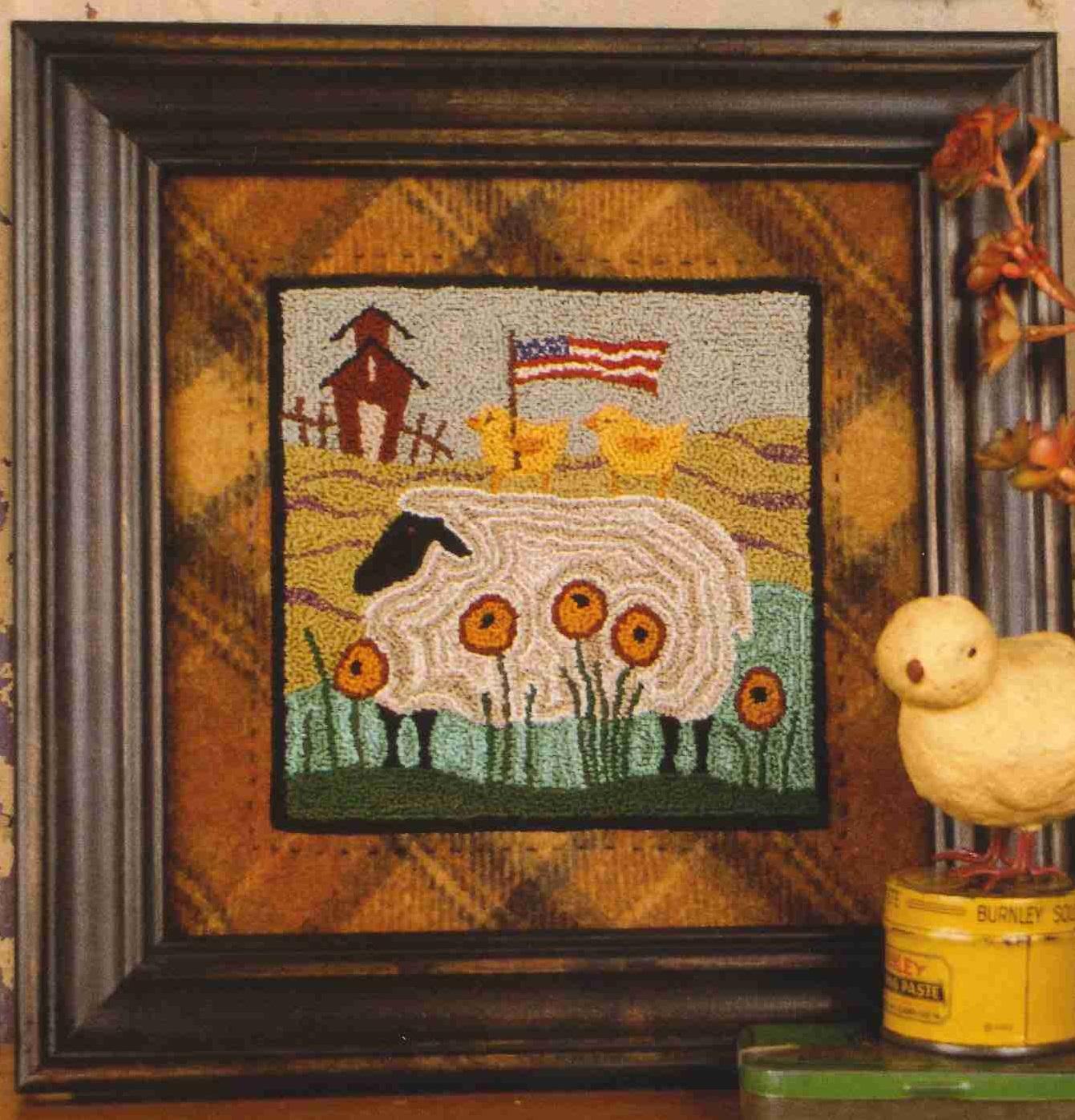 Garden Tour 681 Punch Needle Pattern Threads That Bind Sheep Punchneedle